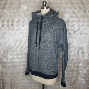 BCBGMaxazria Grey Athleisure High neck Hoodie Sz S